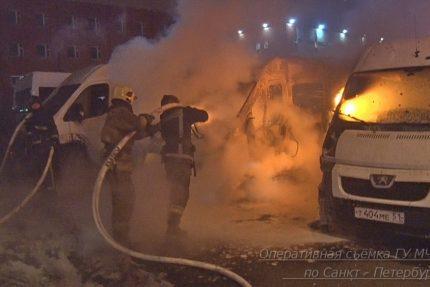 пожар мчс микроавтобусы