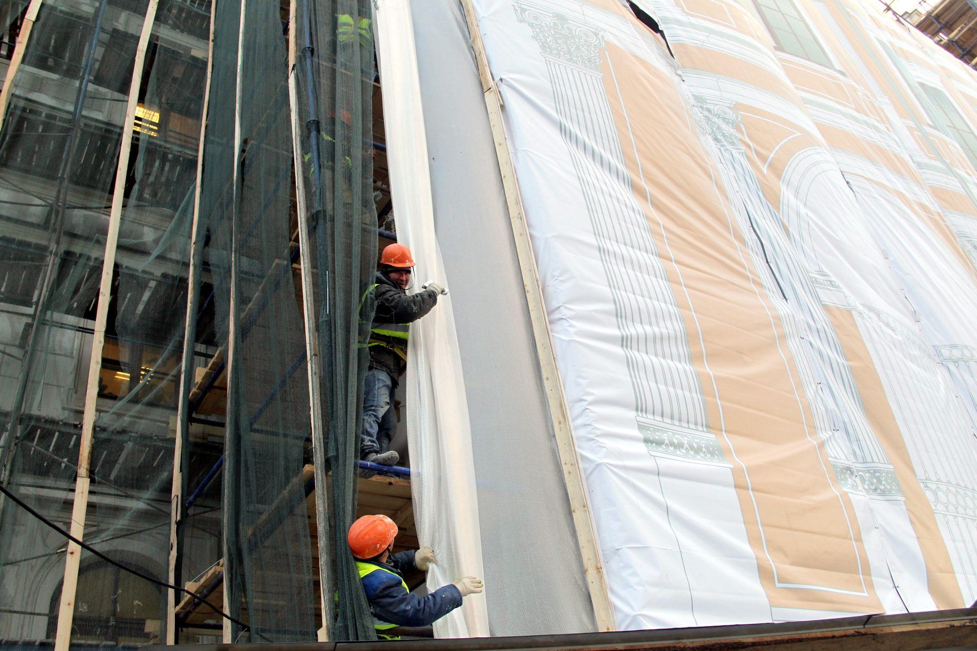 рабочие гастарбайтеры ремонт фасада московский вокзал