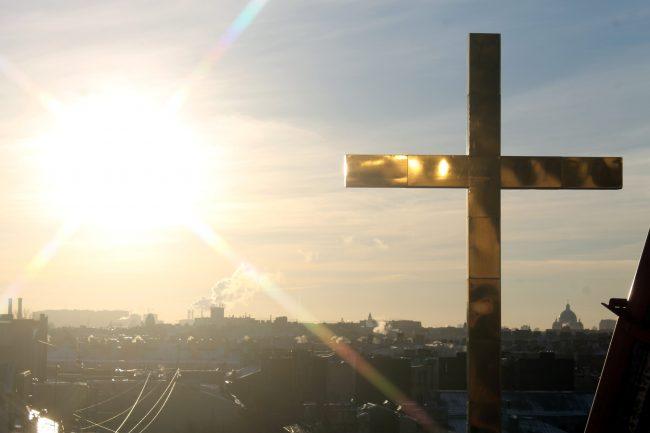 храм святой Екатерины крест реставрация КГИОП