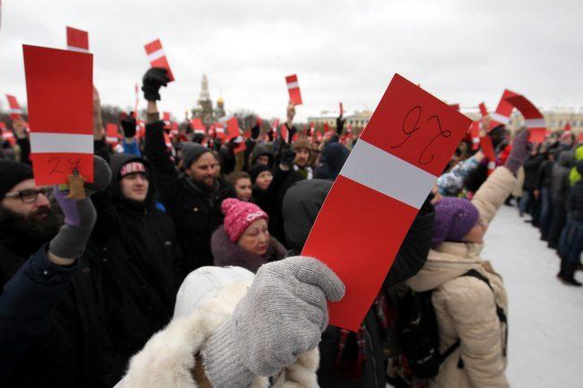 Марсово поле президентские выборы 2018 выдвижение Алексея Навального