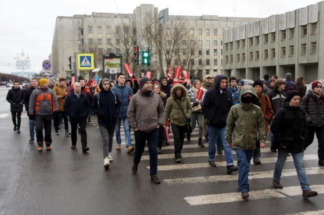 акция протеста забастовка избирателей сторонники Навального оппозиция политика шествие