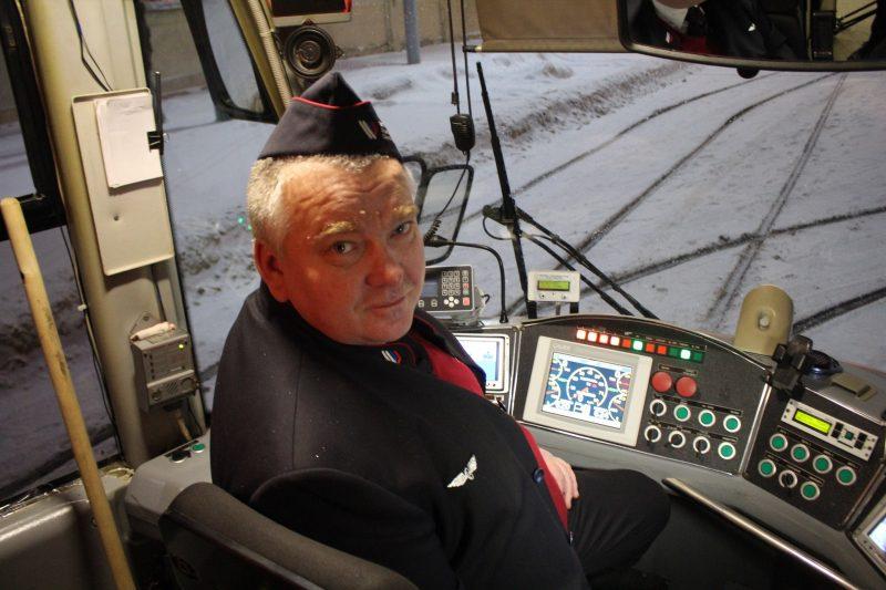 Олимпийский трамвай водитель Алексей Смирнов