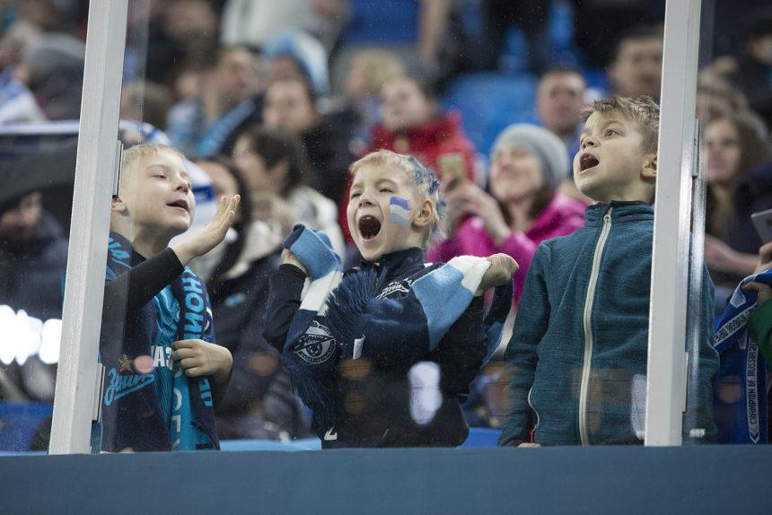 футбольный матч ФК Зенит Селтик Лига Европы дети болельщики