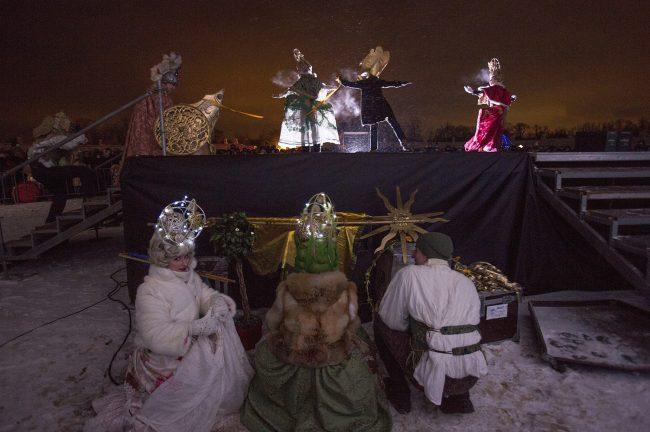 Зимний вечер света Царское село костюмированные артисты
