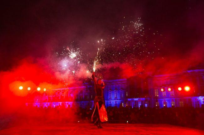 Зимний вечер света Царское село костюмированные артисты световое шоу