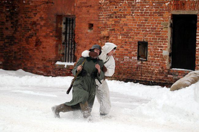 реконструкция Сталинградская битва захват языка разведка