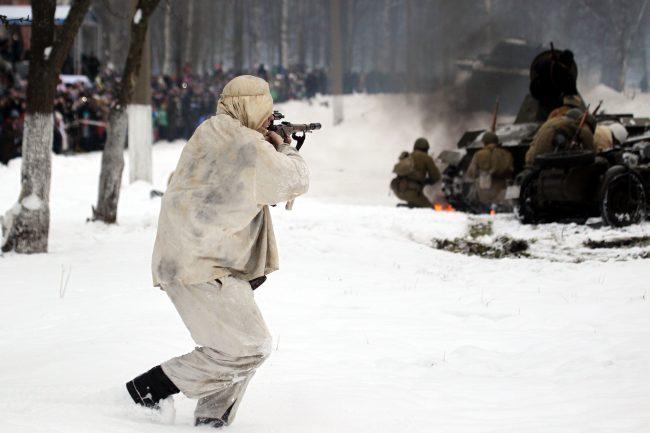 реконструкция Сталинградская битва военная техника Красная Армия