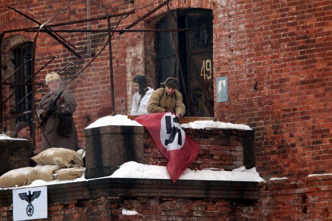 реконструкция Сталинградская битва Красная Армия захват штаба свастика