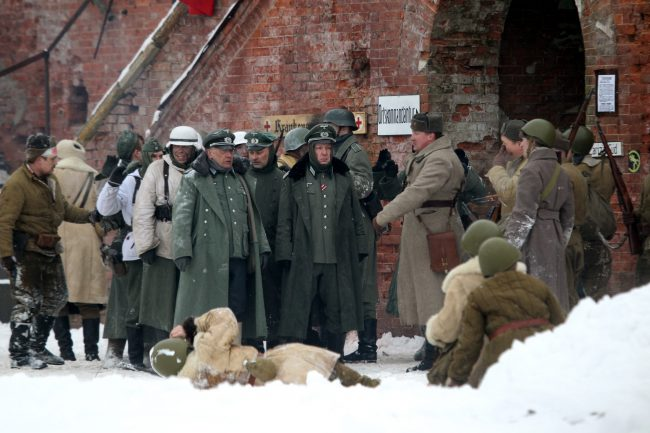 реконструкция Сталинградская битва Красная Армия захват штаба пленение фельдмаршала Паулюса