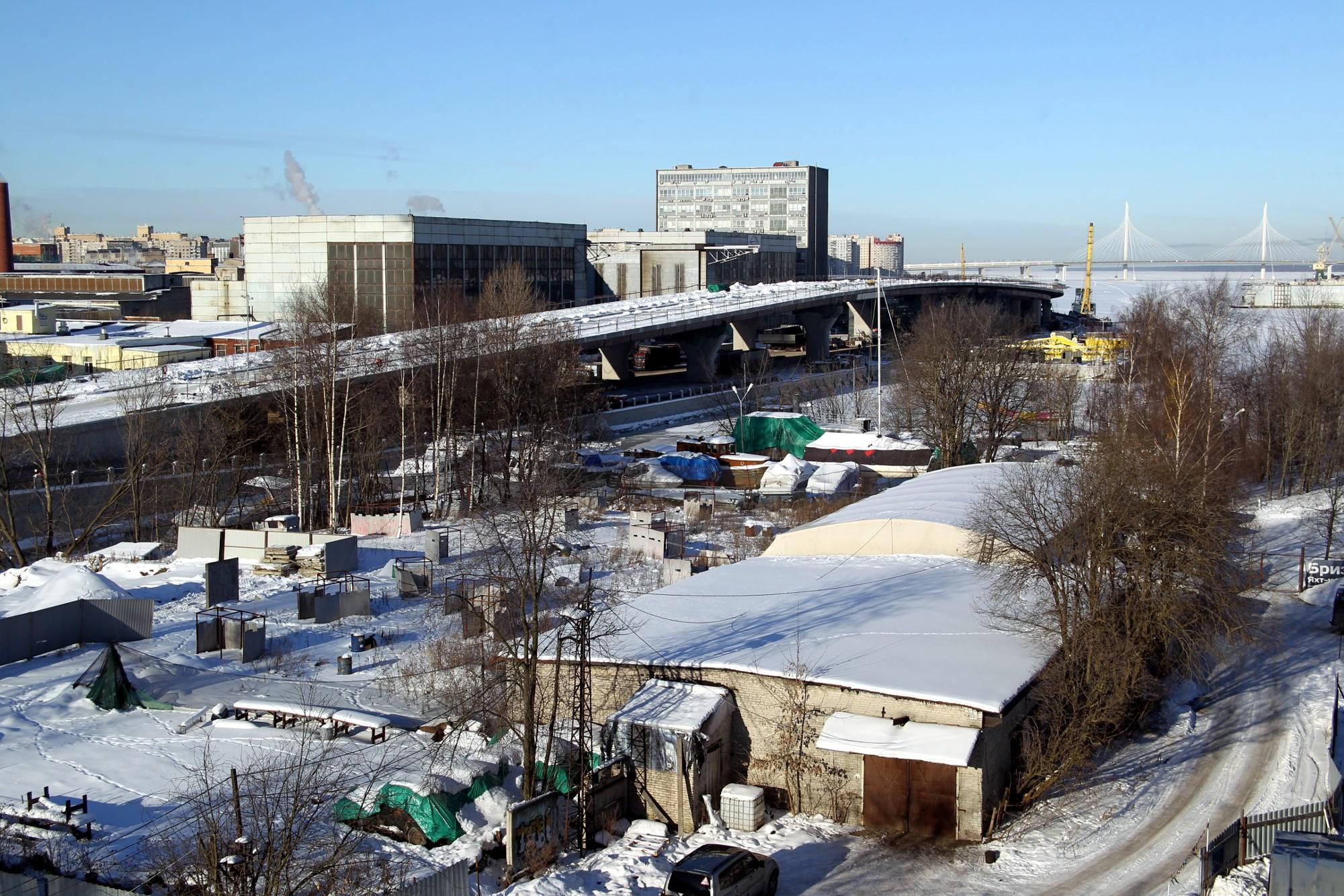 дорожное строительство набережная Макарова