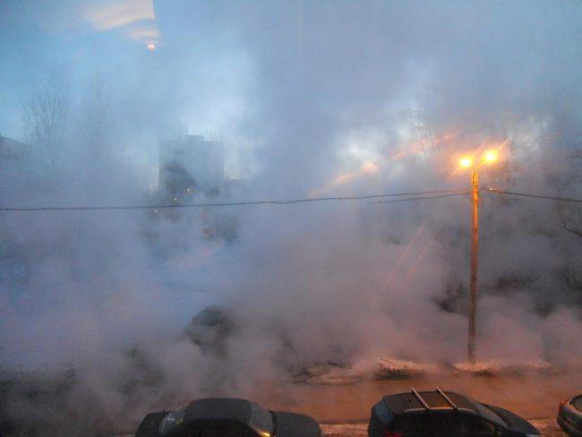 прорыв трубы теплоснабжения пар улица Танкиста Хрустицкого