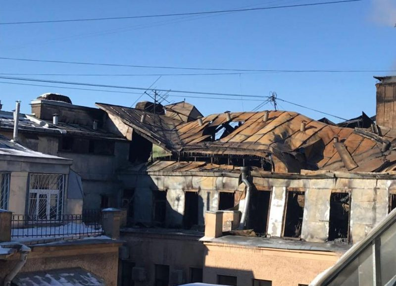 повреждённая кровля дом Танского улица Куйбышева 21