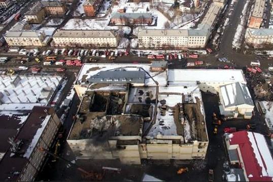 сгоревший торговый центр Зимняя Вишня в Кемерово