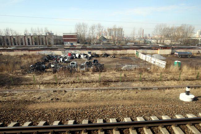 полоса отвода железной дороги свалка металлолома