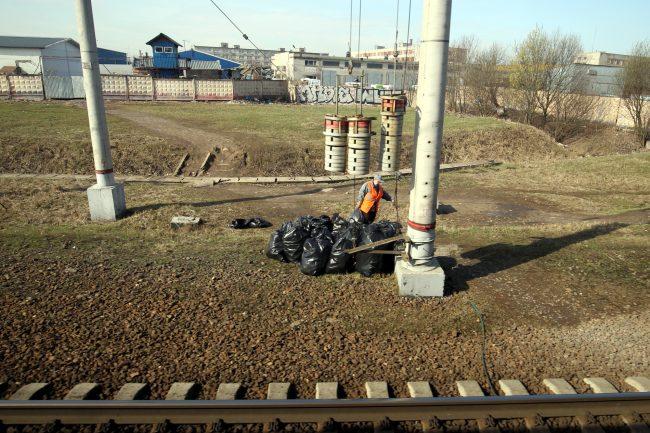 полоса отвода железной дороги уборка мусора