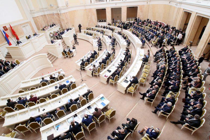 губернатор Георгий Полтавченко отчёт в Законодательном Собрании