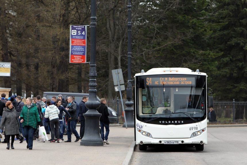 автобус шаттл S4 автостанция Крестовский остров