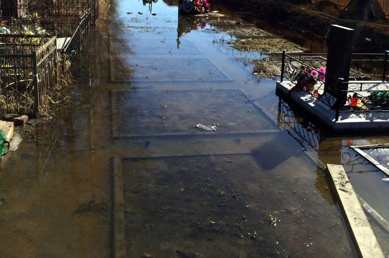 подтопление половодье талая вода Серафимовское кладбище