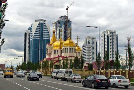 Чечня Грозный церковь Архангела Михаила