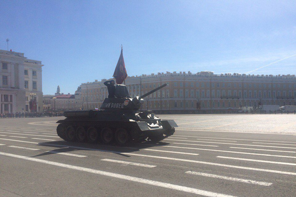 HPJeo6pshs4 танк т-34 парад день победы
