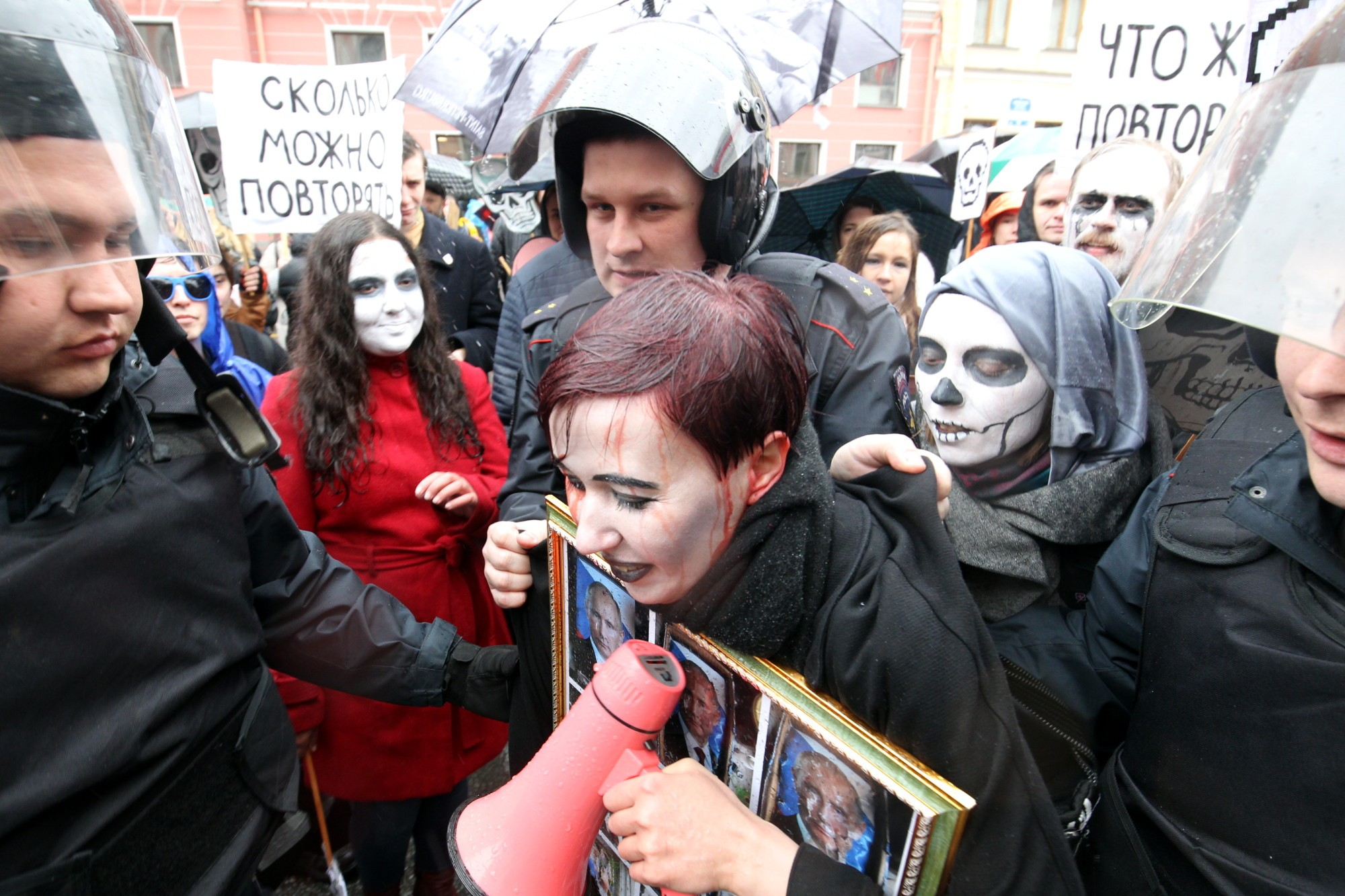 первомай полиция задержание активистки Варвары Михайловой