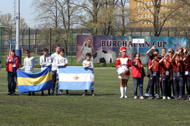 кубок Бурчалкина детский спорт футбол Boca Juniors