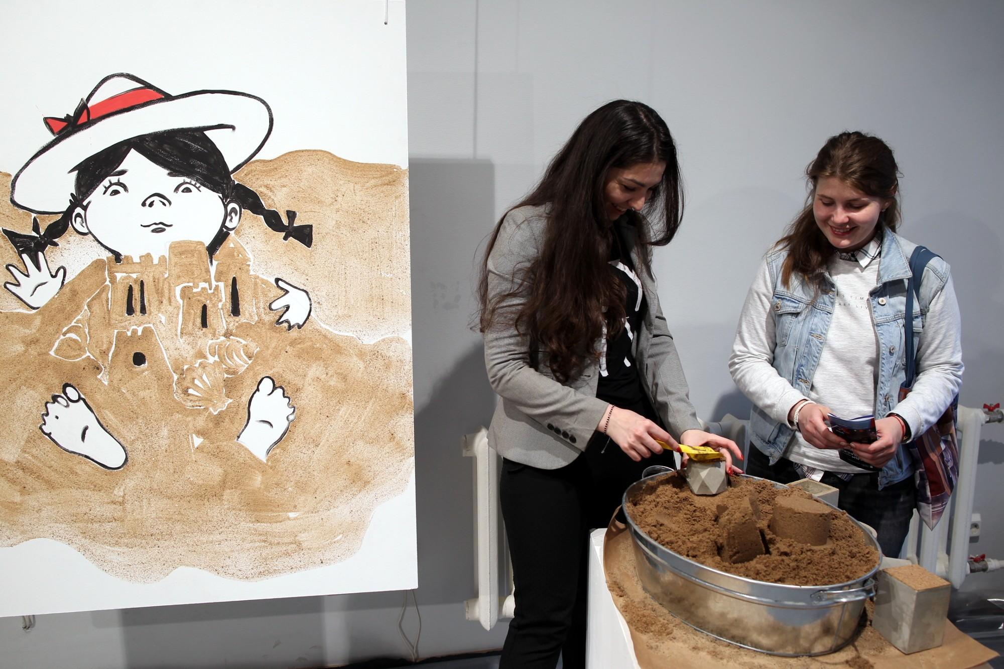 Ночь музеев 2018 библиотека Лиговский 99 песок песчаные скульптуры