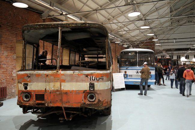 Ночь музеев 2018 музей автобусов автобус лаз 695 реконструкция реставрация