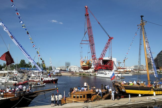 спуск на воду линейного корабля Полтава верфь исторического судостроения