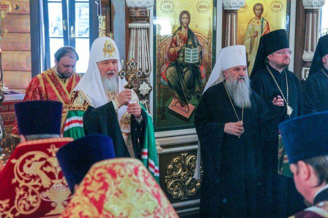 Патриарх Кирилл освящение храма в Левашово