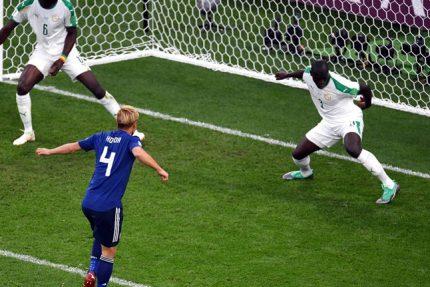 ЧМ-2018 чемпионат мира по футболу матч Япония - Сенегал гол Кейсукэ Хонда