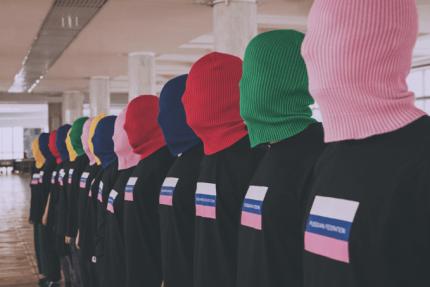 Pussy Riot одежда шапки маски