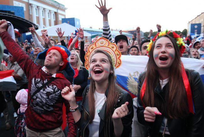 фанаты болельщики футбол чмпионат мира по футболу фан зона россия