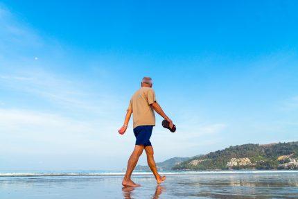пенсионер, пенсия, пляж