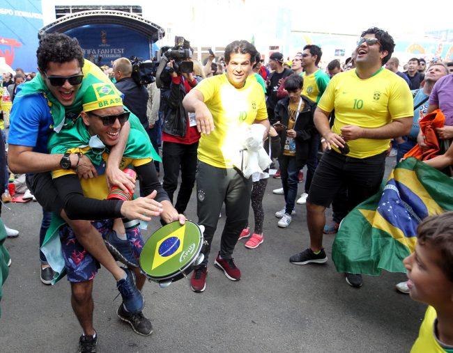 ЧМ-2018 фанаты болельщики сборной Бразилии фанзона