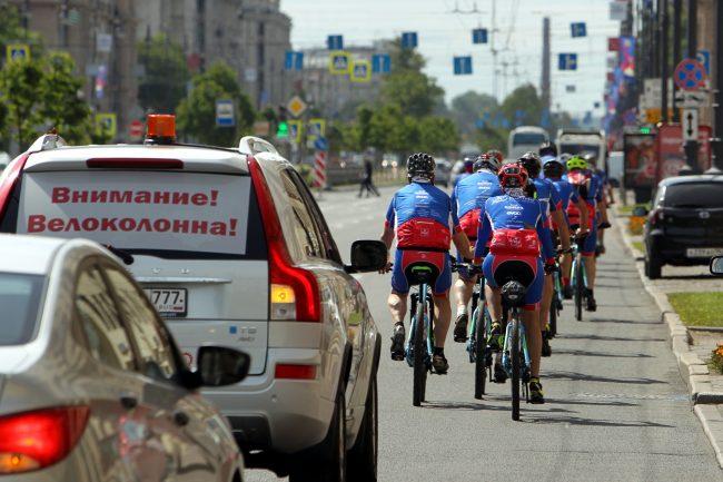 велосипедисты велопробег Петербург - Владивосток
