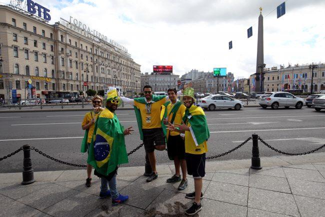 ЧМ-2018 фанаты болельщики сборной Бразилии площадь Восстания
