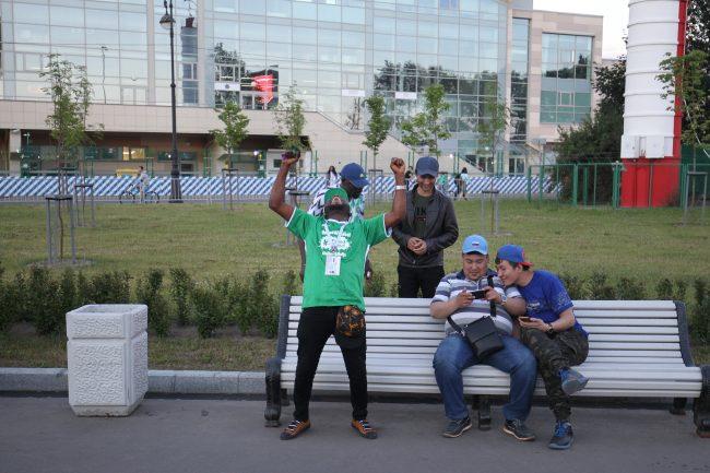 нигерийские болельщики