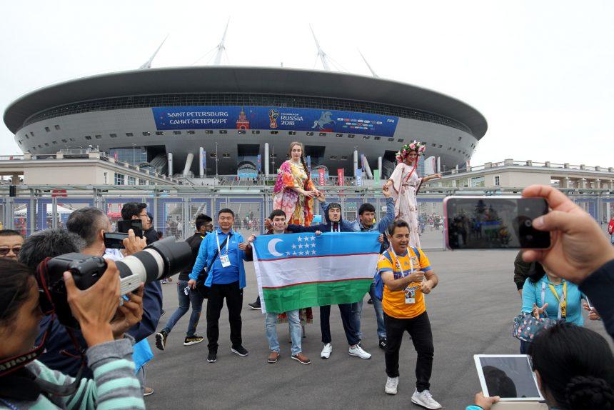 ЧМ-2018 футбол болельщики фанаты Узбекистан стадион на Крестовском