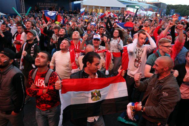ЧМ-2018 болельщики фанаты сборной России и Египта