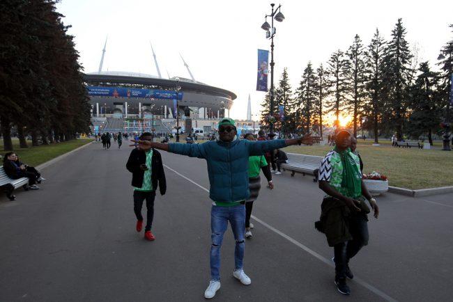 ЧМ-2018 болельщики фанаты сборной Нигерии негры