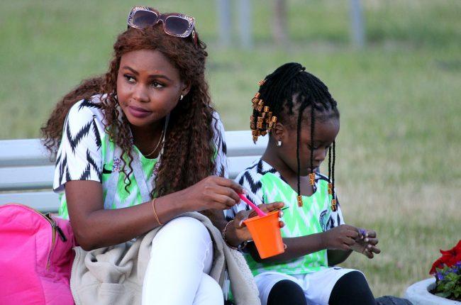 ЧМ-2018 болельщики фанаты сборной Нигерии негритянка
