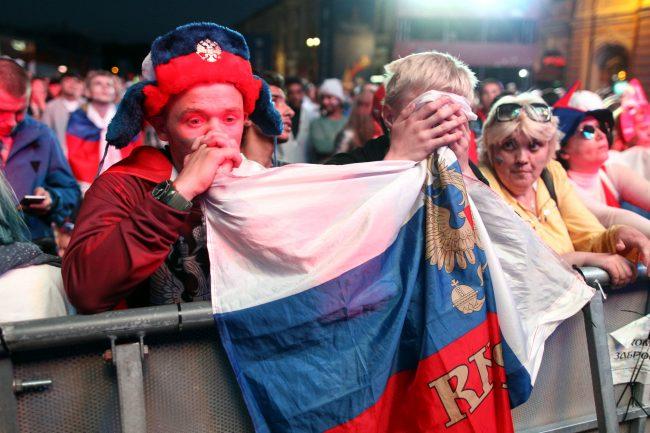 ЧМ-2018 футбол матч Россия Хорватия болельщики фанаты фанзона уныние отчаяние скорбь