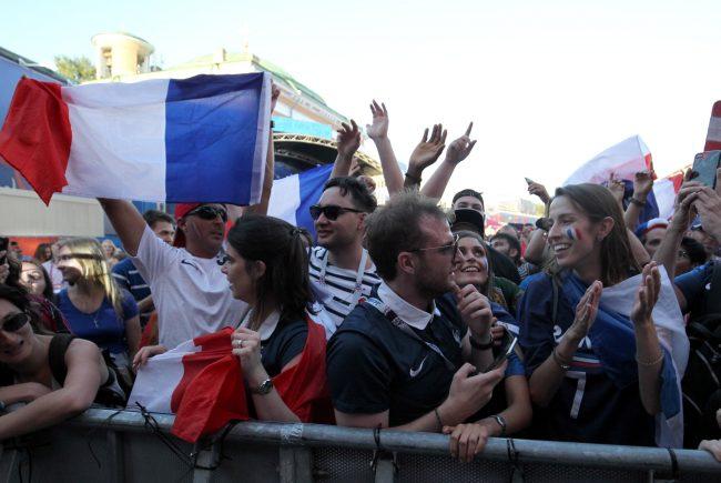 ЧМ-2018 футбол фанаты болельщики сборной Франции