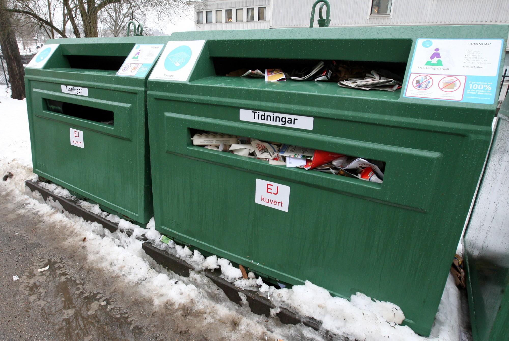 раздельный сбор мусор отходы вторсырьё Стокгольм Швеция