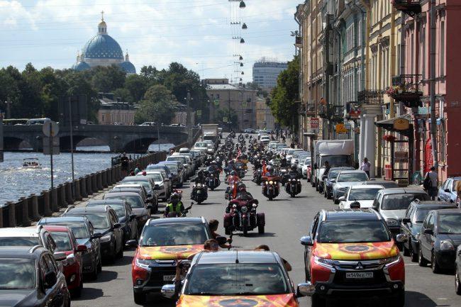 мотопробег мотофестиваль Harley Days мотоциклисты байкеры набережная Фонтанки