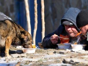 Бездомные, фото газеты Петербургский дневник