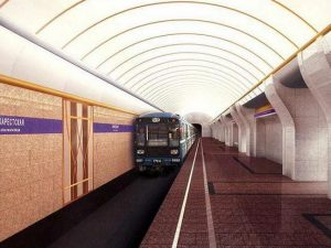Вестиблю станции метро Бухарестская, эскиз