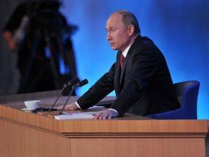 Пресс-конференция Путина, фото с пресс-службы Кремля 2