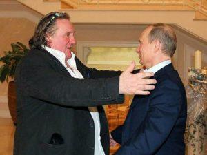 Владимир Путин и Жерар Депардье, фото пресс-службы Кремля
